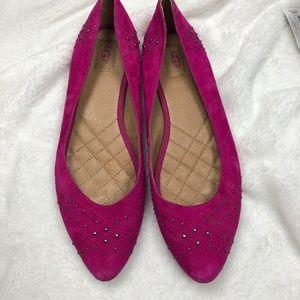 UGG Lorelei Hot Pink Studded Flat Size 11